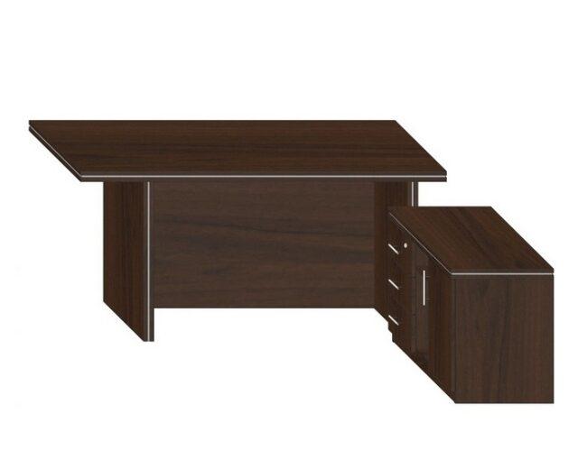 Стол компьютерный с тумбой для руководителя, офисный, левый.